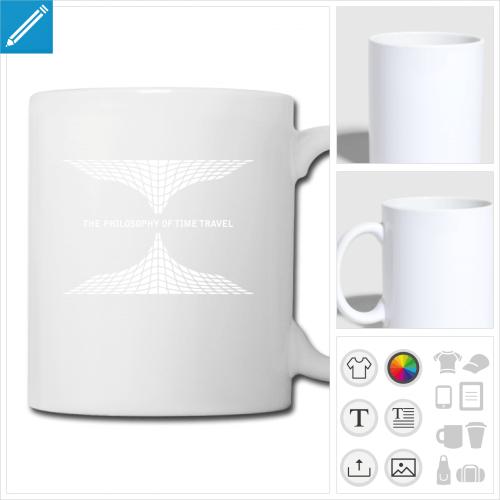 mug blanc science à personnaliser et imprimer en ligne