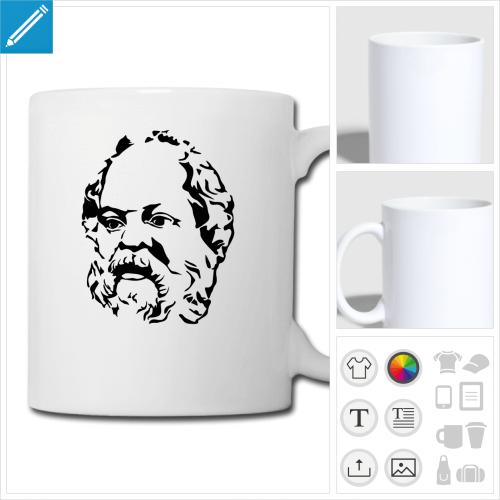mug blanc Philosophe à personnaliser