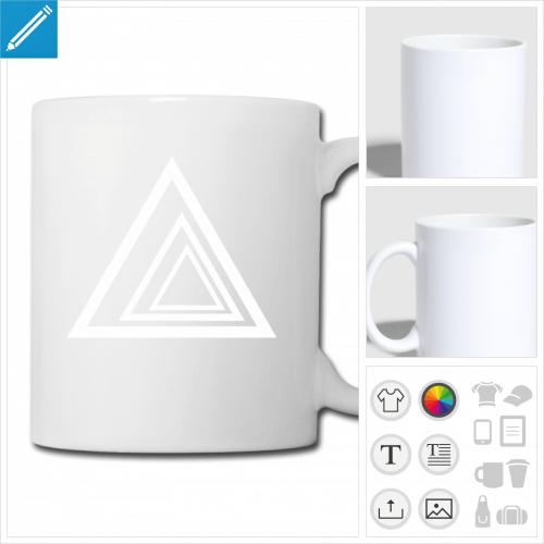 tasse triangle à créer en ligne