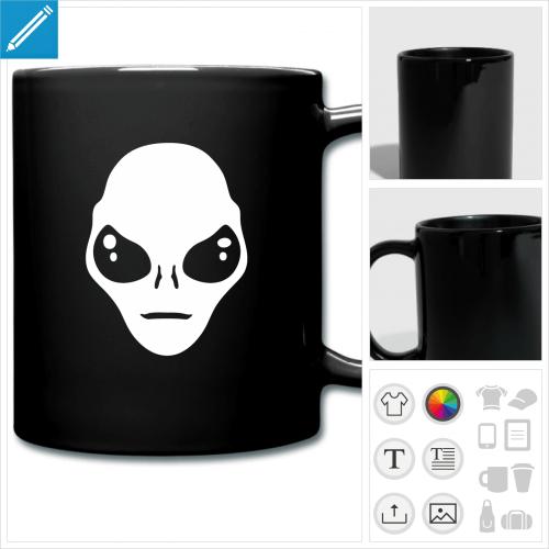 tasse couleur extraterrestre à personnaliser