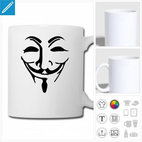 tasse anonymous à créer en ligne
