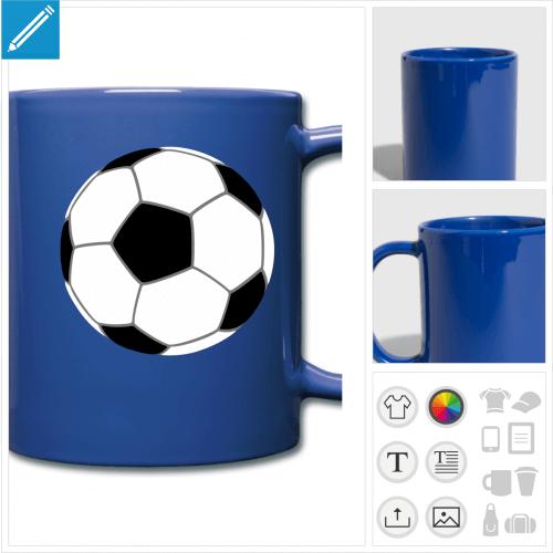mug couleur foot personnalisable