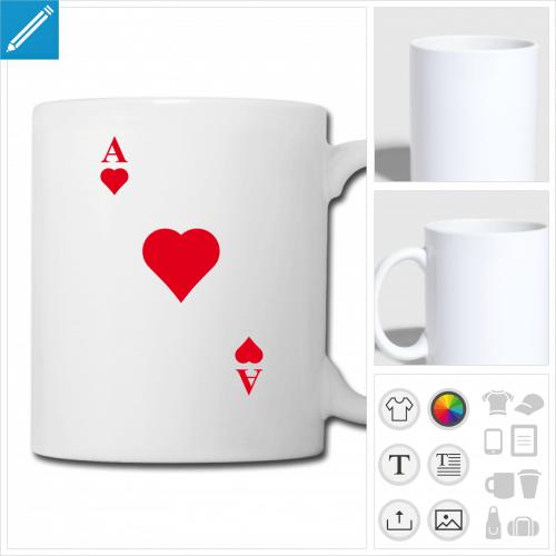 tasse as de coeur à créer en ligne