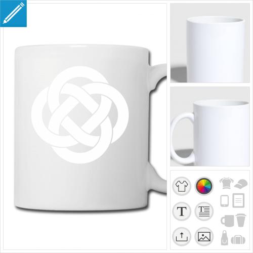 tasse symbole celte personnalisable