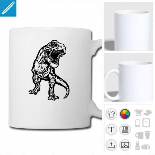 tasse dinosaure à créer soi-même