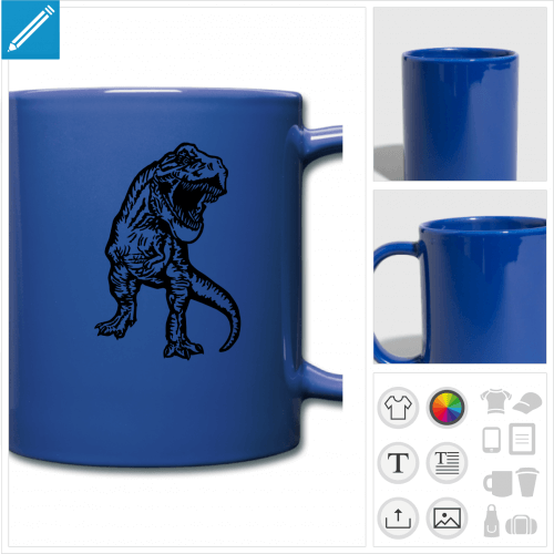 tasse T-rex à personnaliser et imprimer en ligne