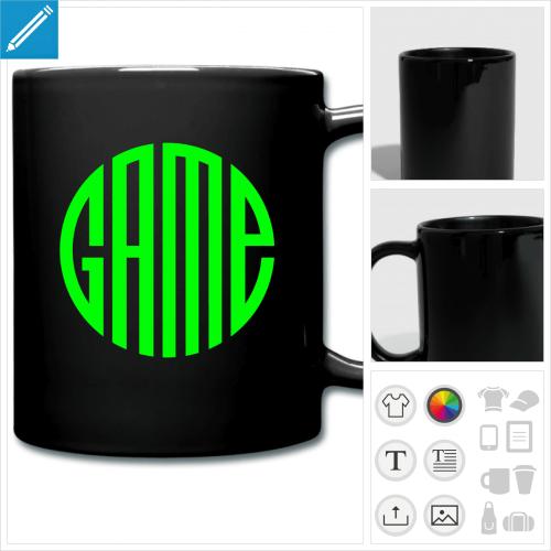 mug coloré gaming à personnaliser et imprimer en ligne
