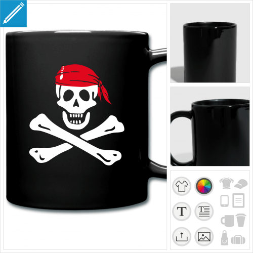 tasse pirate à personnaliser, impression unique