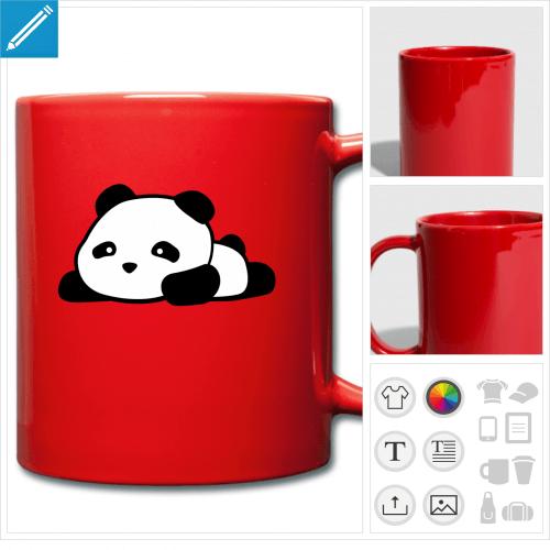 mug couleur panda à personnaliser en ligne