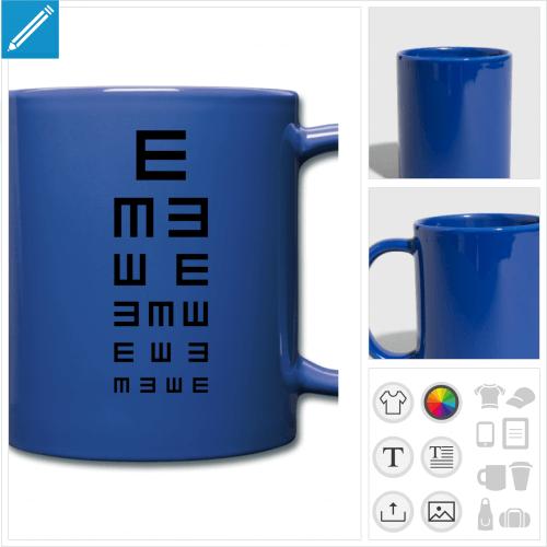 mug test ophtalmo à imprimer en ligne