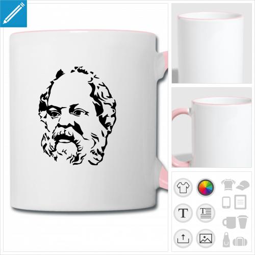 mug Socrate à créer en ligne