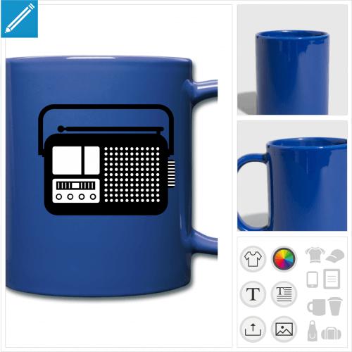 tasse couleur radio à imprimer en ligne