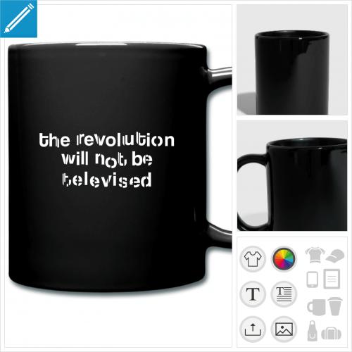 tasse couleur révolution à créer soi-même