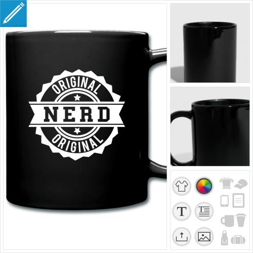 tasse couleur nerd original personnalisable, impression à l'unité