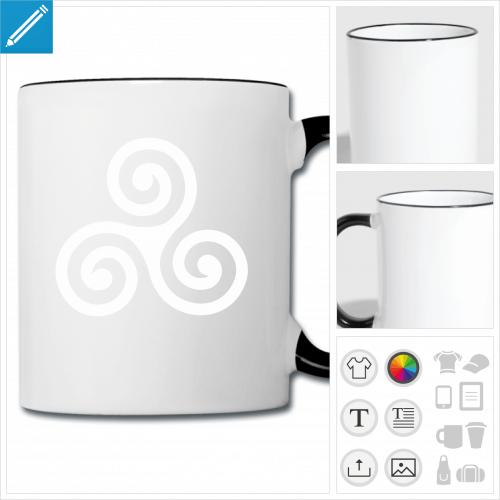 mug Breizh personnalisable, impression à l'unité