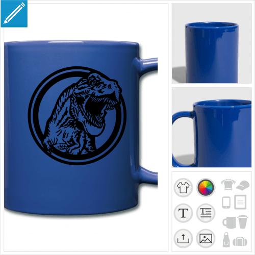 mug couleur T-rex personnalisable