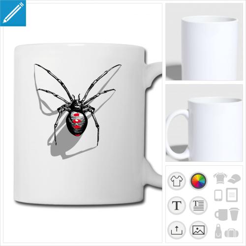 mug veuve noire personnalisable