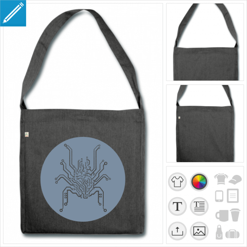grand sac cabas araignée circuit à personnaliser en ligne