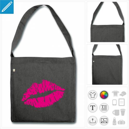 sac de courses kiss à personnaliser et imprimer en ligne