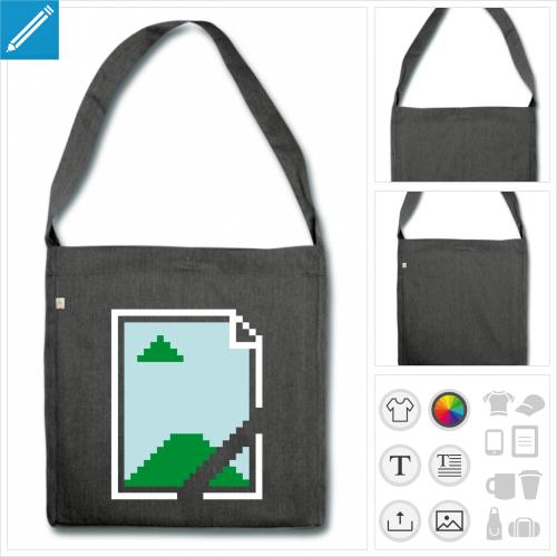 grand sac cabas image manquante à imprimer en ligne