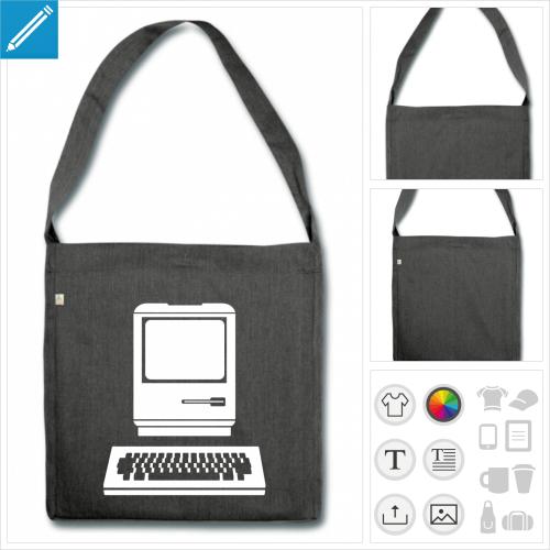 sac à bandoulière ordinateur à créer soi-même