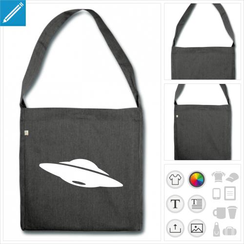 sac à bandoulière ufo à imprimer en ligne