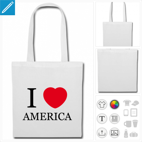 sac anses America personnalisable