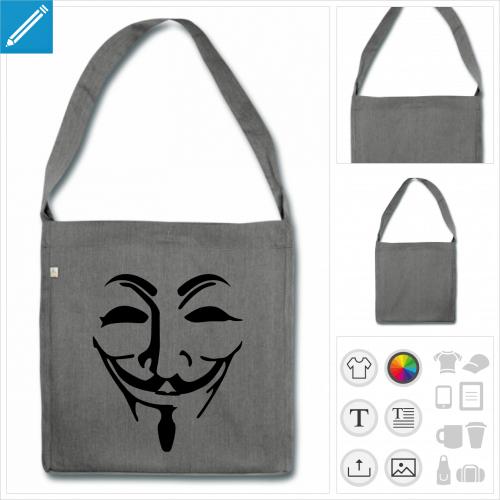 sac masque fawkes à personnaliser en ligne