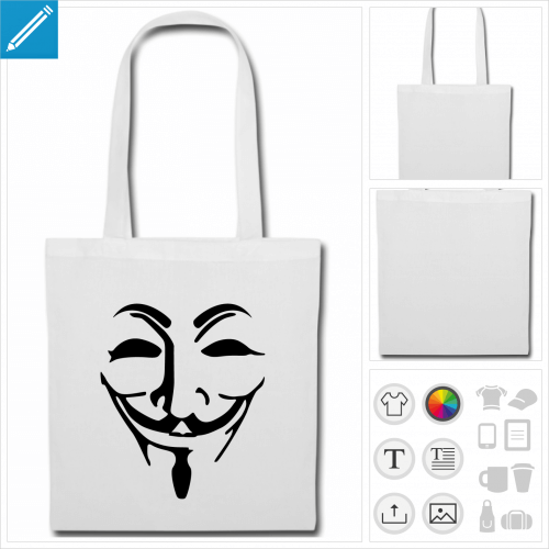 sac tissu anonymous personnalisable