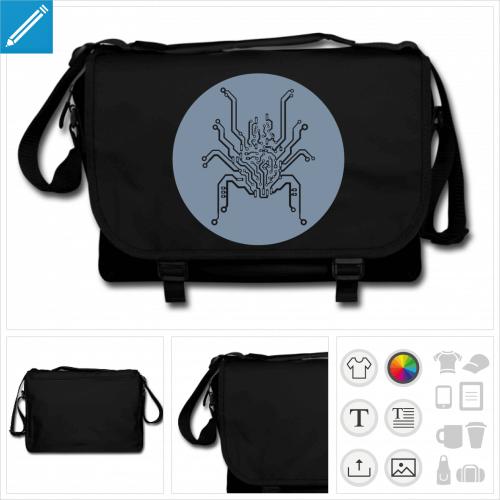 sac noir araignée geek à créer soi-même