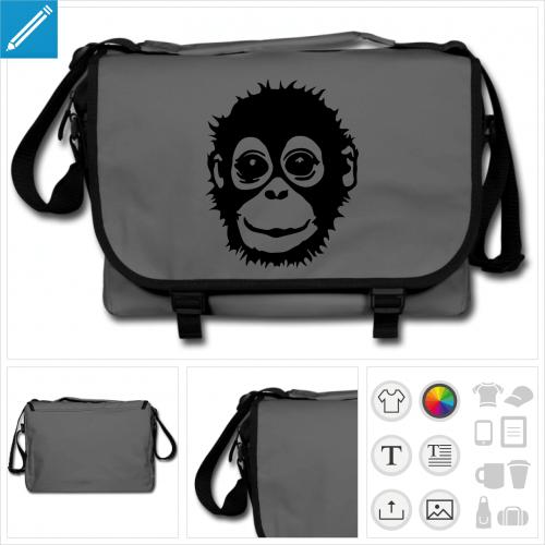 sac singe à personnaliser, impression unique