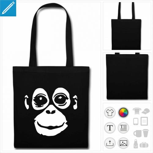 tote bag Orang-outan à créer soi-même