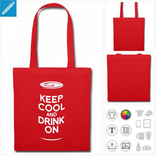 tote bag boire à imprimer en ligne
