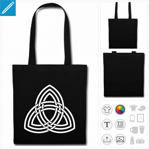 tote bag celte personnalisable