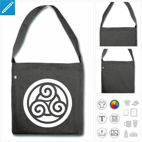 grand sac cabas celte à personnaliser et imprimer en ligne