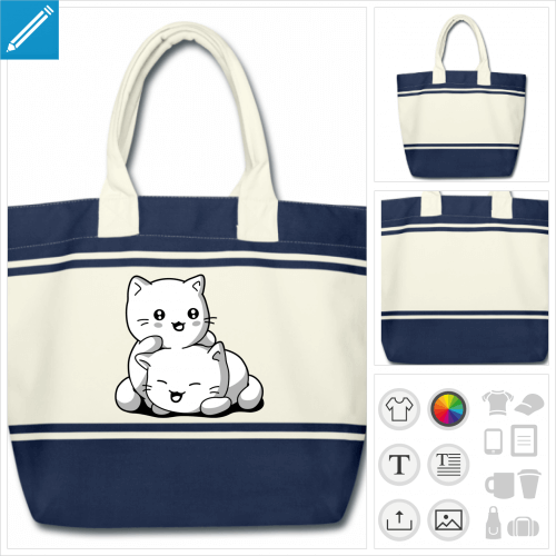 sac chatons personnalisable