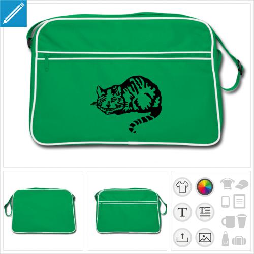 sac sport chat du cheshire à imprimer en ligne
