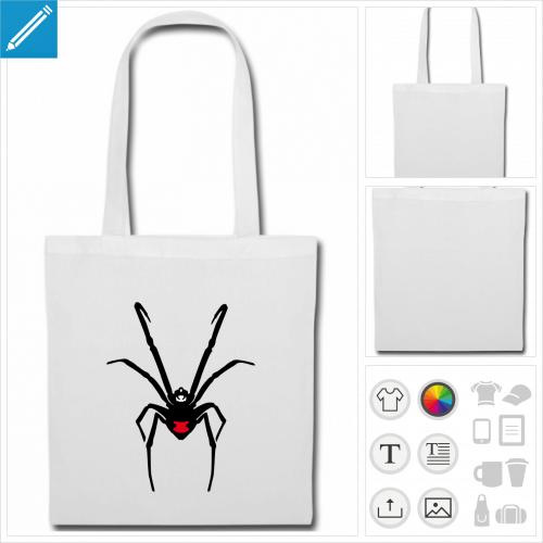 sac de courses araignée à personnaliser et imprimer en ligne