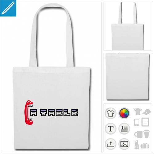 sac tote bag ordinateur personnalisable, impression à l'unité