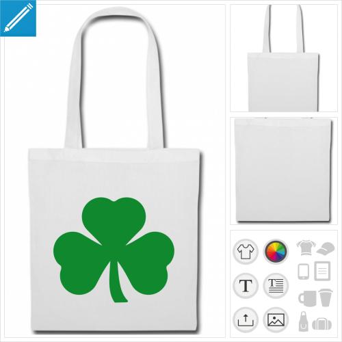 tote bag Irlande personnalisable, impression à l'unité
