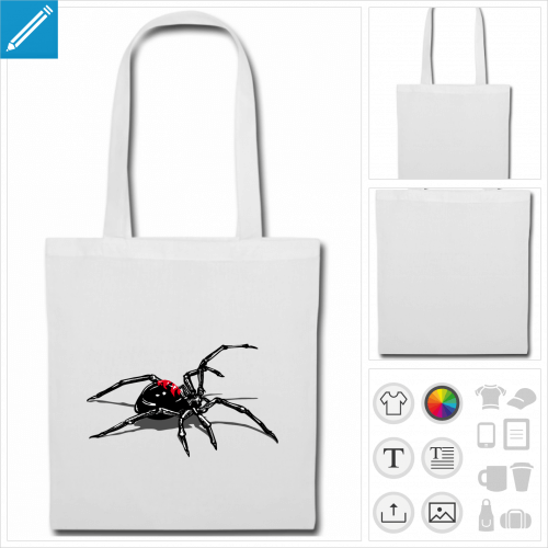 sac de courses spider à imprimer en ligne