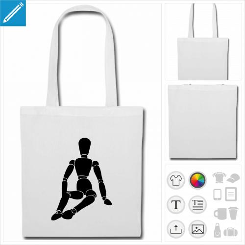sac de courses dessin personnalisable