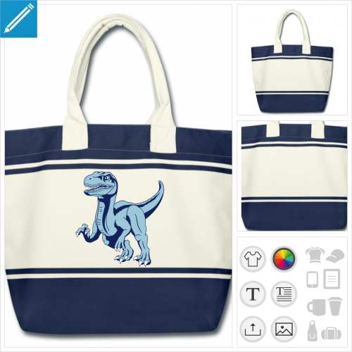 sac dinosaure personnalisable