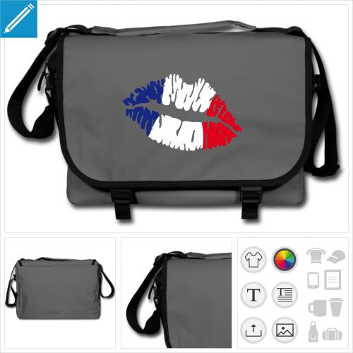 sac de cours drapeau à personnaliser et imprimer en ligne