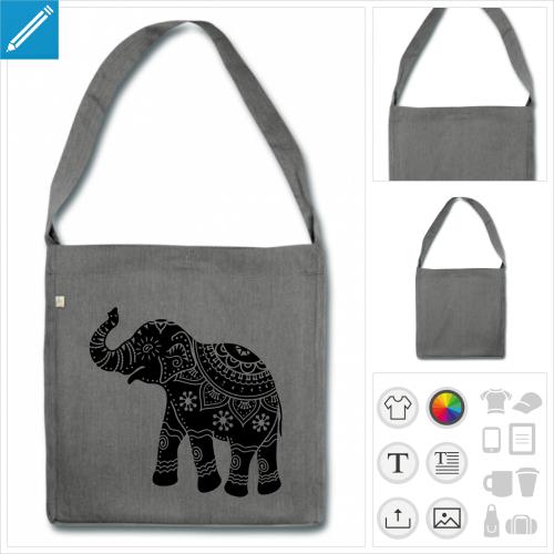 sac éléphant inde à créer en ligne