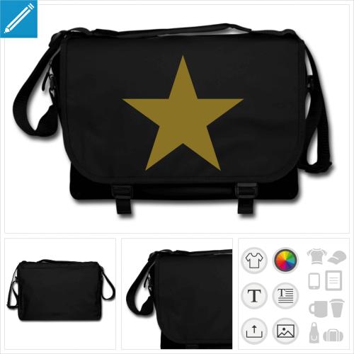 sac noir étoile à créer en ligne
