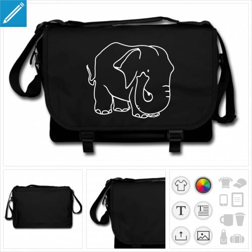 sac à bandoulière éléphant à personnaliser en ligne