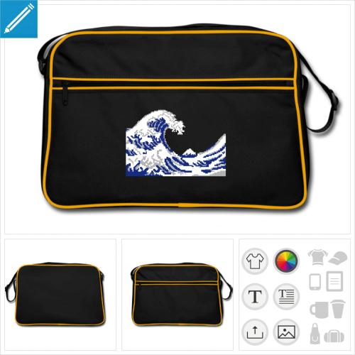 sac rétro hokusai geek à créer soi-même