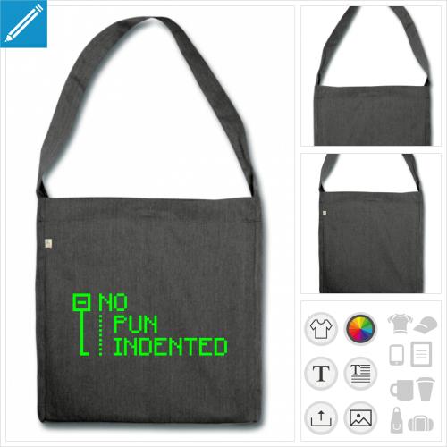 sac à bandoulière développeur personnalisable