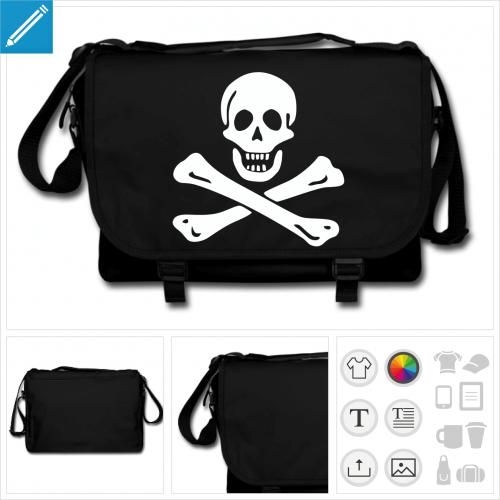 sac noir Jolly Roger à personnaliser